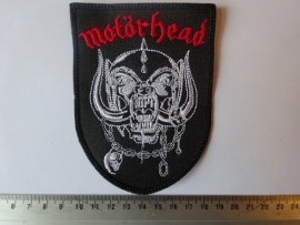 MOTORHEAD - RED NAME + WHITE SNAGGLETOOTH