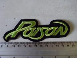 POISON - GREEN LOGO ( SHAPED )