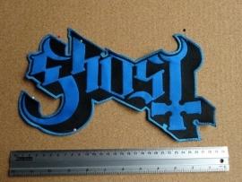 GHOST - BLUE/BLACK LOGO ( BLUE BORDER )
