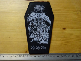 KING DIAMOND - BYE BYE MISSY ( BLACK BORDER ) COFFIN SHAPED WOVEN