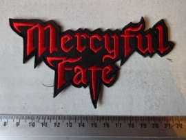 MERCYFUL FATE - RED LOGO ( SHAPED )