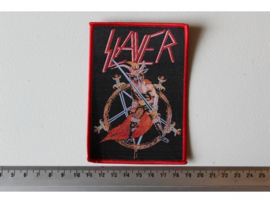 SLAYER - SHOW NO MERCY  ( RED BORDER ) WOVEN
