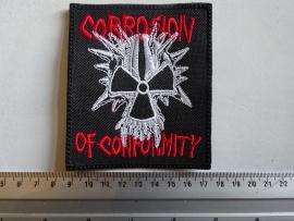 CORROSION OF CONFORMITY - RED NAME LOGO + SKULL