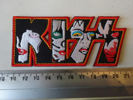 KISS - FACES ( RED BORDER SHAPED )
