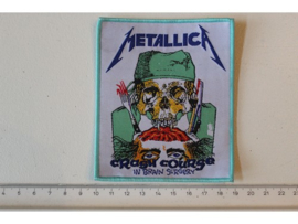 METALLICA - CRASH COURSE IN BRAIN SURGERY ( BLUE BORDER   ) WOVEN