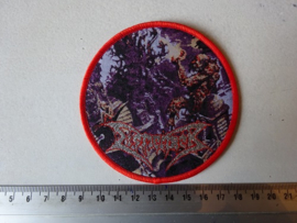 DISMEMBER - WHERE IRONCROSSES GROW ( RED BORDER ) WOVEN