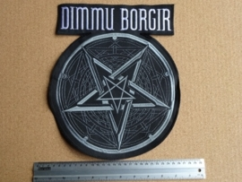 DIMMU BORGIR - GREY LOGO + PENTAGRAM