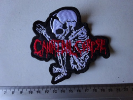 CANNIBAL CORPSE - RED NAME LOGO + WHITE FOETUS