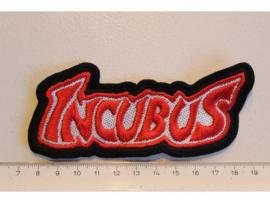INCUBUS - RED/WHITE NAME LOGO