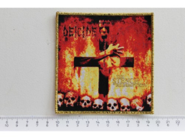 DEICIDE - STENCH OF REDEMPTION ( GOLD BORDER ) WOVEN