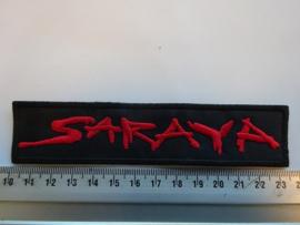 SARAYA - RED NAME LOGO