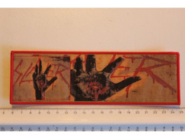 SLAYER - CHRIST ILLUSION ( RED BORDER ) WOVEN STRIPE