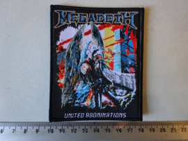 MEGADETH - UNITED ABOMINATIONS ( BLACK BORDER ) HANDNUMBERED