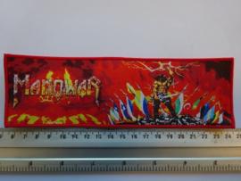 MANOWAR - KINGS OF METAL ( RED BORDER ) WOVEN STRIPE