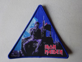 IRON MAIDEN - 2 MINUTES TO MIDNIGHT TRIANGLE BLUE BORDER NUMBERED