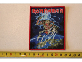 IRON MAIDEN - NORTH EUROPEAN TOUR ( RED BORDER ) WOVEN
