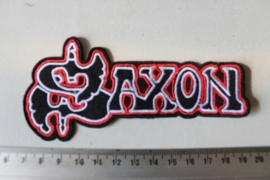 SAXON - WHITE/RED/BLACK NAME LOGO
