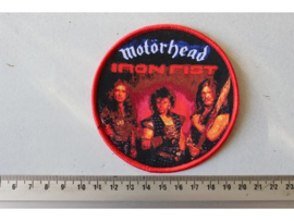 MOTORHEAD - IRON FIST ( RED BORDER ) WOVEN