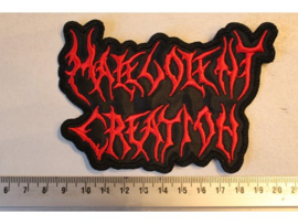 MALEVOLENT CREATION - RED NAME LOGO ( SHAPED )