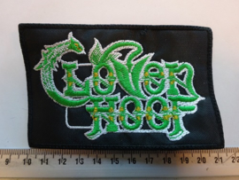CLOVEN HOOF - GREEN/WHITE NAME LOGO