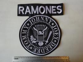 RAMONES - WHITE LOGO ( SHAPED )