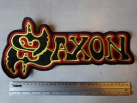 SAXON - RED/YELLOW/BLACK LOGO ( 35 CM )