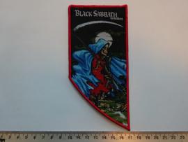 BLACK SABBATH - FORBIDDEN ( WHITE NAME/RED BORDER ) WOVEN