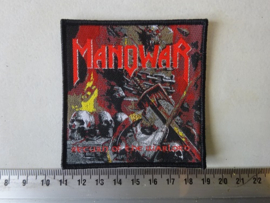 MANOWAR - RETURN OF THE WARLORD ( WOVEN, BLACK BORDER ) NUMBERED