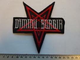 DIMMU BORGIR - WHITE NAME LOGO + RED PENTAGRAM