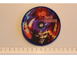 IRON MAIDEN - THE CALL OF THE PROPHECY ( BLUE BORDER ) WOVEN