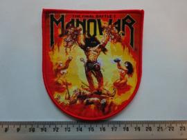 MANOWAR - THE FINAL BATTLE ( ORANGE/RED BORDER ) WOVEN