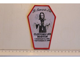 METALLICA - CLIFFORD BURTON ( RED BORDER ) WOVEN