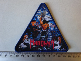 MANOWAR - THE LORD OF STEEL ( BLUE BORDER ) TRIANGLE WOVEN