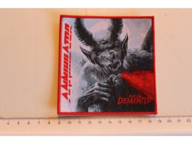 ANNIHILATOR - FOR THE DEMENTED ( RED BORDER ) WOVEN