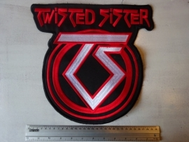 TWISTED SISTER - RED NAME + WHITE TS LOGO
