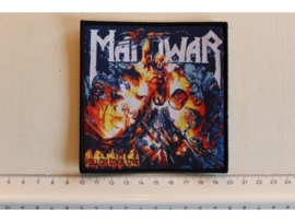 MANOWAR - HELL ON STAGE LIVE ( BLACK BORDER ) WOVEN