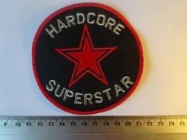 HARDCORE SUPERSTAR - SILVER LOGO + RED STAR