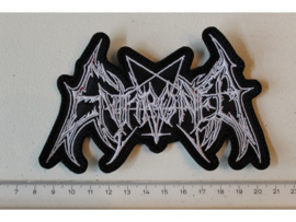 ENTHRONED - WHITE NAME LOGO ( DIFFERENT )