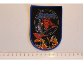 VENOM - IN THE RING OF FIRE ( BLUE BORDER ) WOVEN