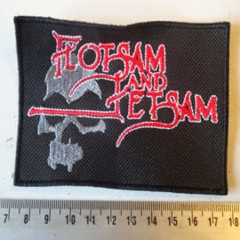 FLOTSAM AND JETSAM - RED/WHITE NAME +LOGO