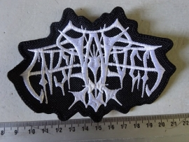 ENSLAVED - WHITE SHAPED OLD LOGO