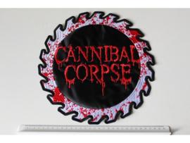 CANNIBAL CORPSE - BLOODY SAWBLADE NAME LOGO