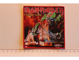 IRON MAIDEN - COMING HOME ( RED BORDER ) WOVEN