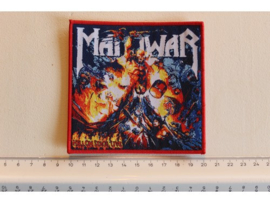 MANOWAR - HELL ON STAGE LIVE ( RED BORDER ) WOVEN
