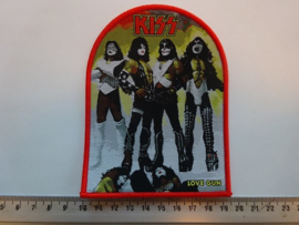 KISS - LOVE GUN ( ORANGE BORDER ) WOVEN