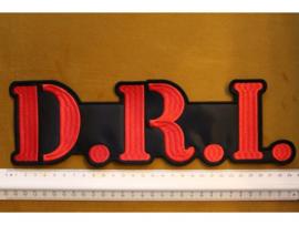 D.R.I. - RED NAME LOGO