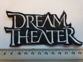DREAM THEATER - WHITE NAME LOGO ( SHAPED )