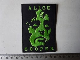 ALICE COOPER - GREEN NAME AND FACE LOGO