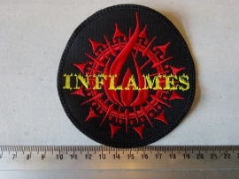IN FLAMES - RED/YELLOW LOGO