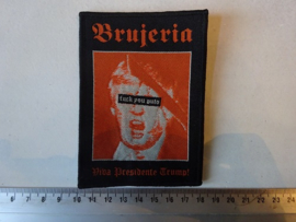 BRUJERIA - VIVA PRESIDENTE TRUMP ( BLACK BORDER ) WOVEN